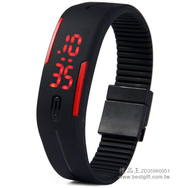 LED手環手錶(釘子扣錶帶)