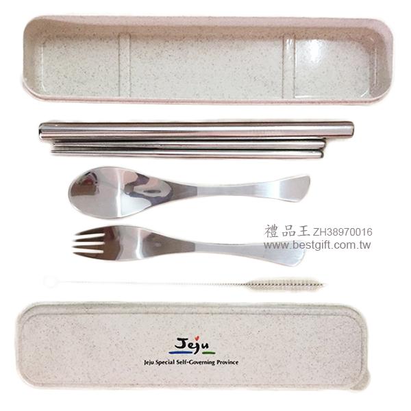 不鏽鋼餐具4件組小麥盒(粗12mm)